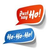 Vraag van Kerstman in bellen Stock Fotografie