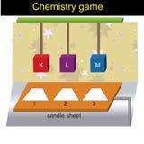 Vraagmalplaatje - versie 01 van het Chemiespel stock illustratie