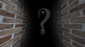 Vraagteken als waterrimpeling Welke daar Onbekende ` s Wat het is wat daar Onzekerheid is 53 stock videobeelden