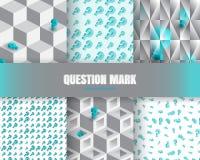 Vraagteken 3d Achtergrond Royalty-vrije Stock Foto