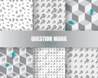 Vraagteken 3d Achtergrond Royalty-vrije Stock Fotografie