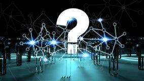 Vraagteken die groep mensen het 3D teruggeven verlichten Stock Afbeelding