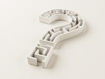 Het Labyrint van het vraagteken Stock Foto's