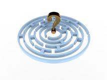 Vraagteken in Labyrint Royalty-vrije Stock Foto's