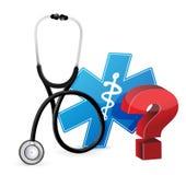 Vraagteken met een Stethoscoop vector illustratie
