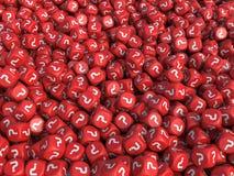 Vraagteken rode kubussen Royalty-vrije Stock Foto