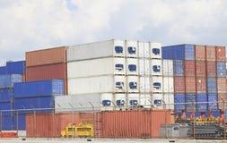 Vracht verschepende containers Royalty-vrije Stock Afbeelding