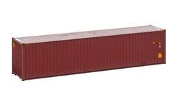 Vracht verschepende die container, op een witte achtergrond wordt geïsoleerd Stock Fotografie