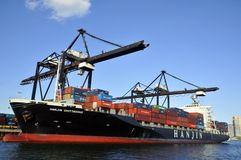 Vrachtboot stock fotografie