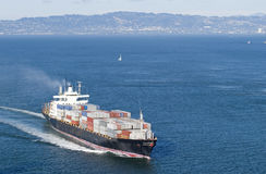 Vrachtboot in San Francisco Stock Foto