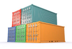 Vrachtcontainers Royalty-vrije Stock Afbeeldingen