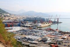Vrachthaven van Salerno, Italië Royalty-vrije Stock Afbeeldingen