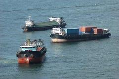 Vrachtschepen Royalty-vrije Stock Afbeeldingen