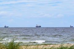 3 Vrachtschepen stock fotografie