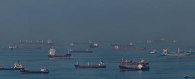 Vrachtschepen in Bosphorus-Straat Royalty-vrije Stock Fotografie