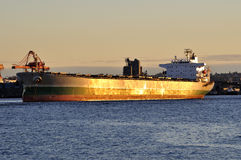 Vrachtschip bij Haven Vancouver Stock Foto