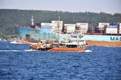 Vrachtschip Bosphorus stock afbeelding