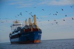 Vrachtschip in Duluth Stock Fotografie