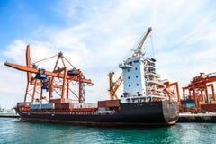 Vrachtschip, groot schip, vervoersschip Stock Afbeelding