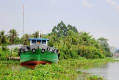 Vrachtschip in Mekong Delta royalty-vrije stock foto