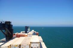 Vrachtschip op zee royalty-vrije stock fotografie