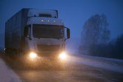 Vrachtvervoer door vrachtwagen Stock Afbeelding