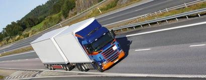Vrachtvervoer op weg Royalty-vrije Stock Fotografie