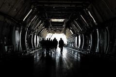 Vrachtvliegtuigbemanning Royalty-vrije Stock Foto
