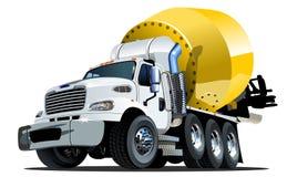 Vrachtwagen één van de beeldverhaalmixer klikt Stock Afbeelding
