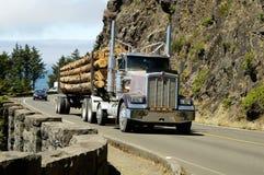 Vrachtwagen 3 van het logboek stock foto's
