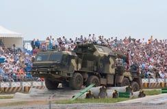 Vrachtwagen BAZ op de hinderniscursus Royalty-vrije Stock Afbeeldingen