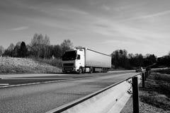 Vrachtwagen de manier Stock Foto's