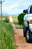 Vrachtwagen die op een Heuvel wordt geparkeerd royalty-vrije stock foto