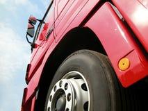 Vrachtwagen en band Royalty-vrije Stock Afbeelding