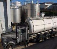 Vrachtwagen en de industrie Royalty-vrije Stock Foto
