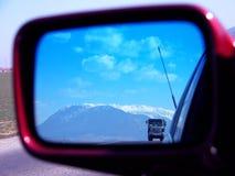 Vrachtwagen en landschap Stock Foto's
