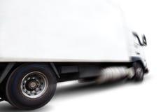 Vrachtwagen en motieonduidelijk beeld Stock Fotografie