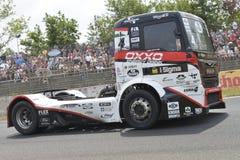 Vrachtwagen het rennen Stock Fotografie
