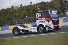 Vrachtwagen het rennen Stock Afbeelding