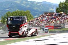 Vrachtwagen het rennen Royalty-vrije Stock Fotografie