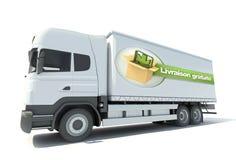 Vrachtwagen, livraison gratuite Royalty-vrije Stock Foto's
