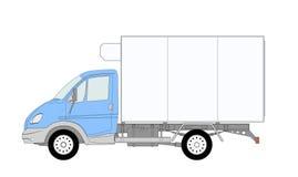 Vrachtwagen LKW met ijskast Stock Foto