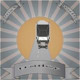 Vrachtwagen met aanhangwagen Stock Fotografie