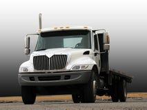 Vrachtwagen met Flatbed Stock Fotografie