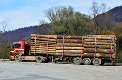 Vrachtwagen met hout royalty-vrije stock foto