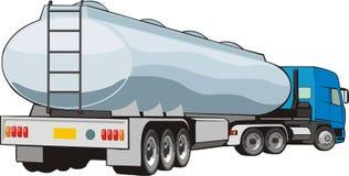 Vrachtwagen met reservoir Stock Afbeelding