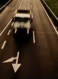 Vrachtwagen in motie Royalty-vrije Stock Afbeelding