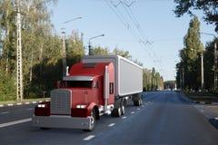 Vrachtwagen op de Weg stock afbeeldingen