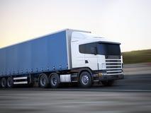 Vrachtwagen op de weg. Stock Foto's