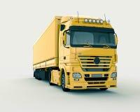 Vrachtwagen op een lichte achtergrond Stock Afbeeldingen